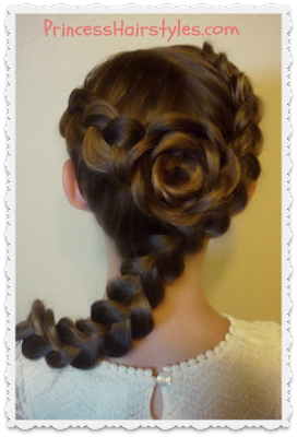 Dutch braided rose hair tutorial