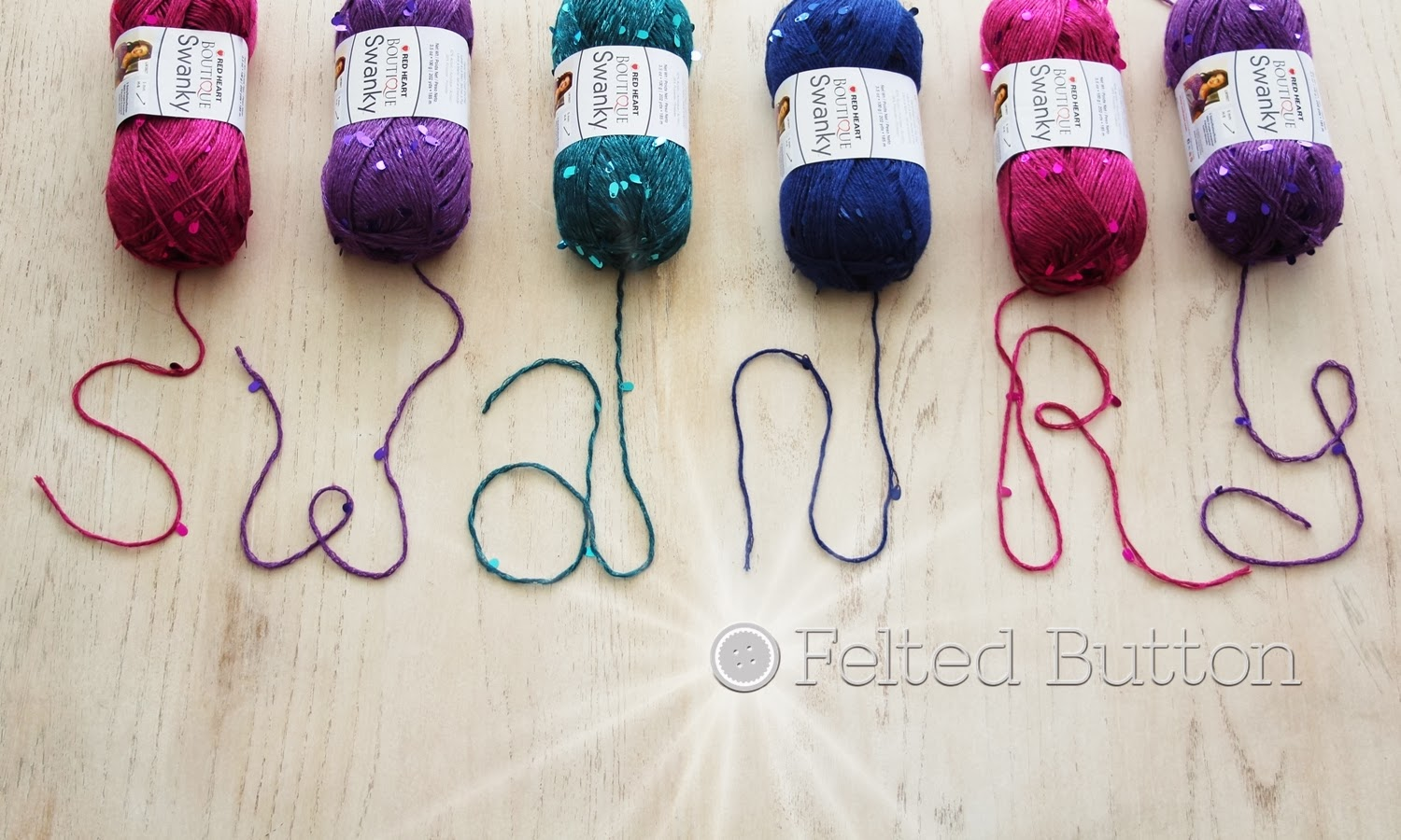 Felted Button Swanky Yarn