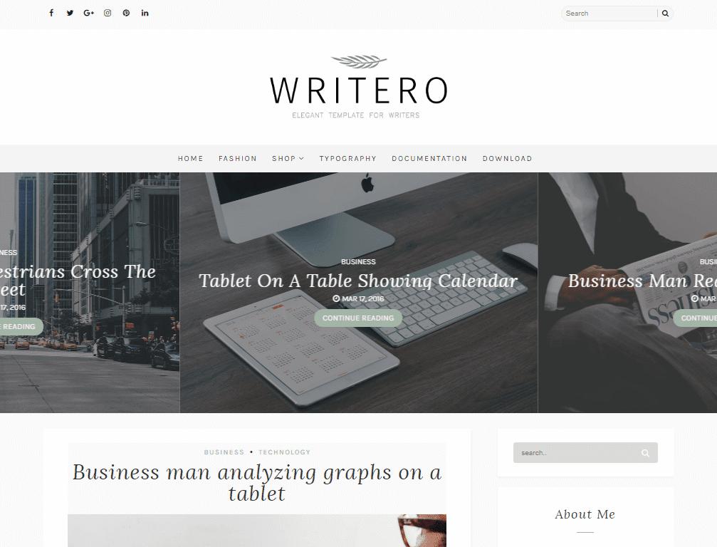 Writero blogger template blogger templates gallery writero blogger template accmission Choice Image