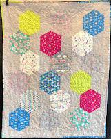 Into The woods Precut Half Hexagon Baby Quilt Kit