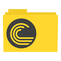 Preview of bit torrent, yellow, software, yellow, color,design, folder icon