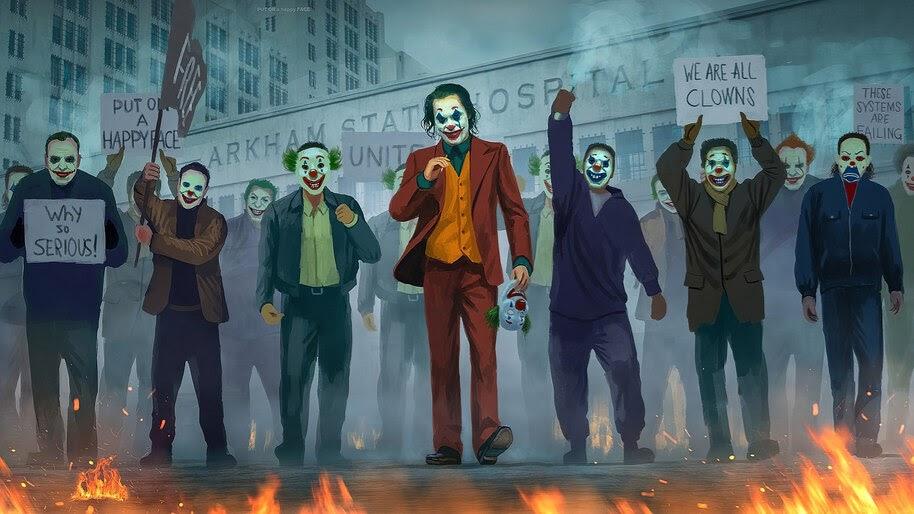 Joker 2019 Protest Joaquin Phoenix 4k Wallpaper 3 1259