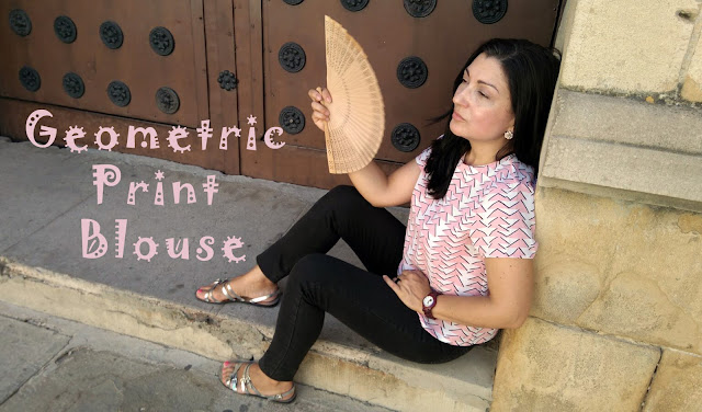 geometric-print-blouse