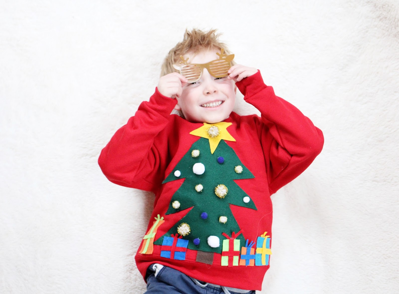 DIY Ugly Christmas Sweater For Kids