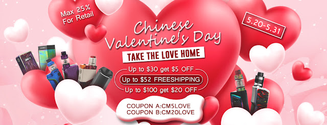 Cloumix Chinese Valentine's Day Vape Sale Now On