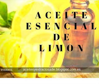 Aromaterapia con esencia de limon