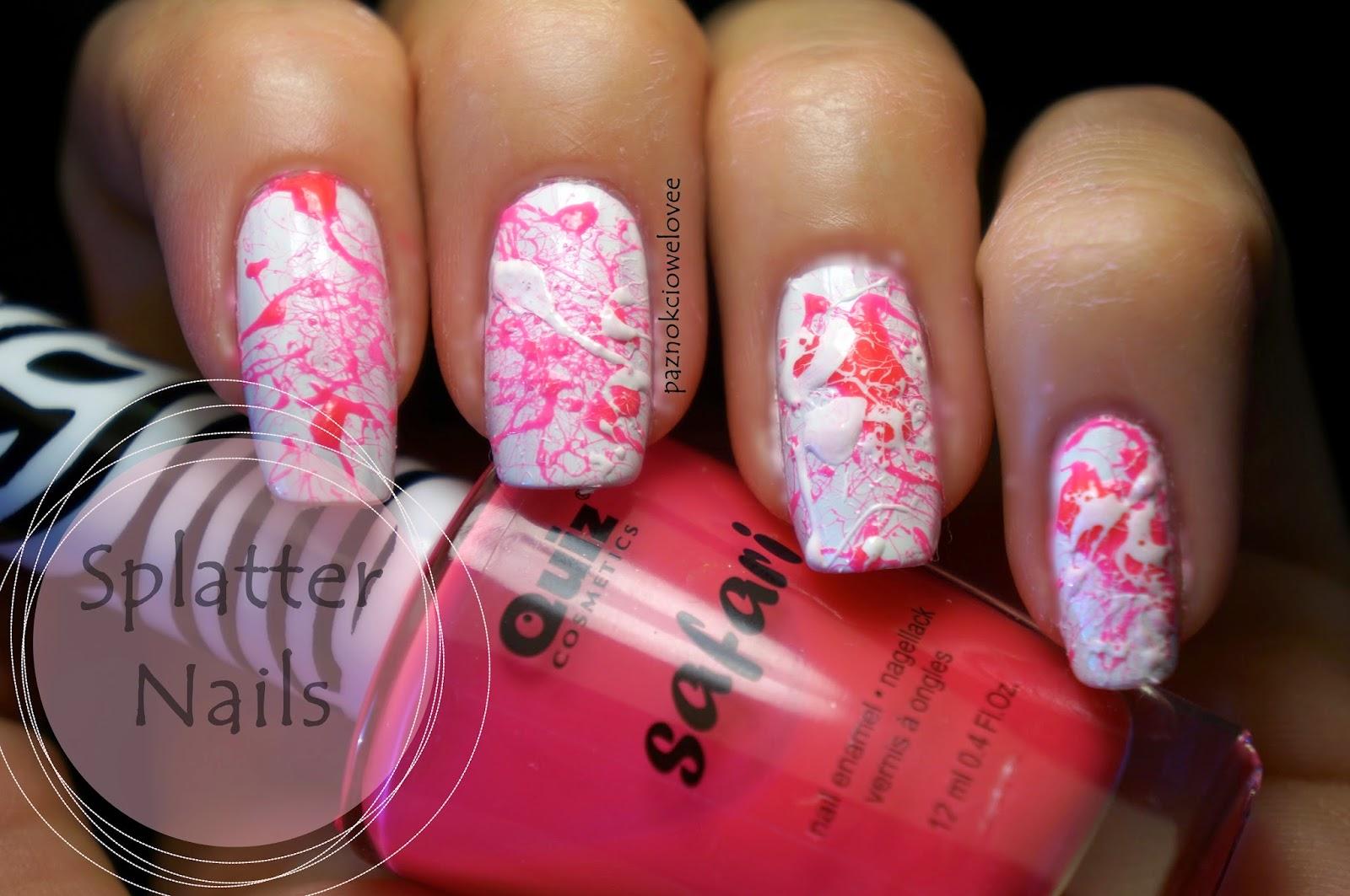 Splatter nails, czyli jednak nie lubie pluć na paznokcie!