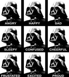 The many moods of Star Wars Darth Vader