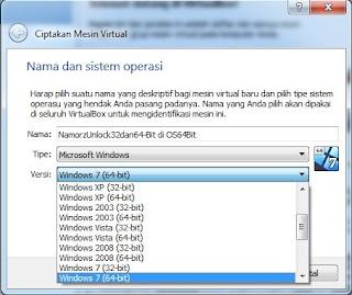 Cara Mengatasi Virtual-Box yang hanya menampilkan 32-Bit di OS 64-Bit.