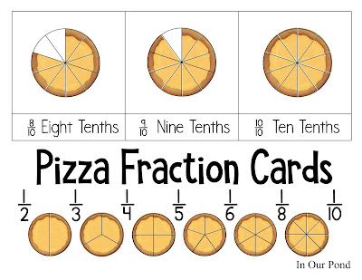 Pizza Fractions and Pretend Play Menu from In Our Pond  #pretendplay #math #fractions #elementary #homeschool #homemade #diy #felt #printables #freeprintables