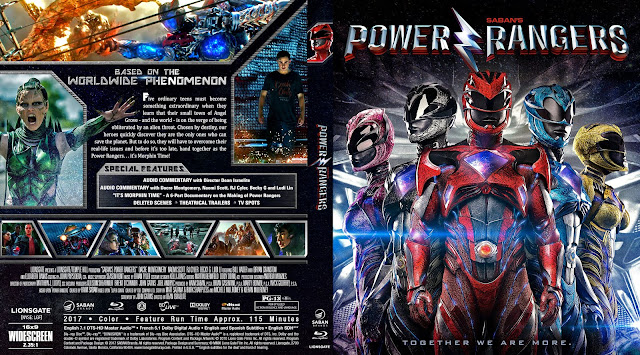 Power Rangers (2017) Bluray Cover