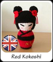 Red Kokeshi amigurumi