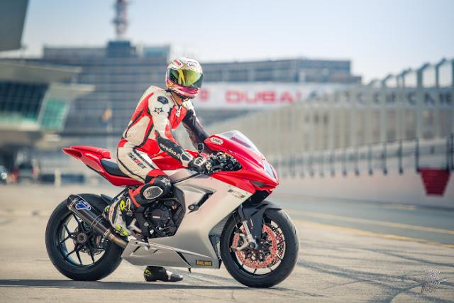 Mashel Al Naimi Onboard 2017 MV Agusta F3 675 Testing at Autodrome,Dubai