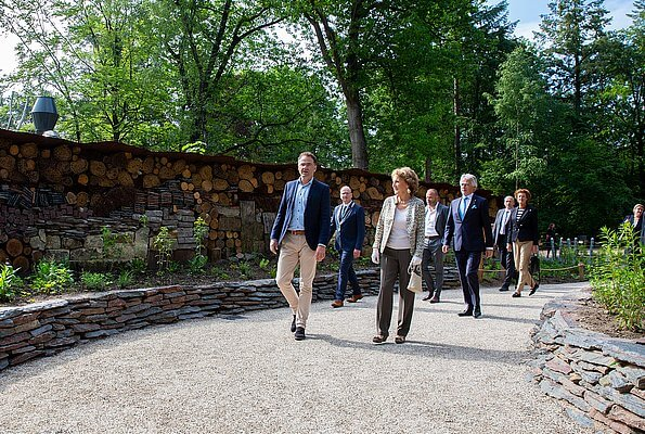 Dutch Princess Margriet opened the food forest located in the new area of Apenheul Park in Apeldoorn. Apenheul Zoo