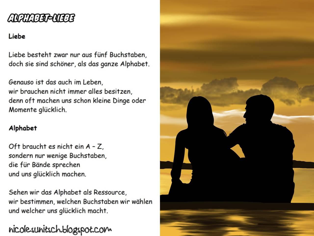 Gedichte Von Nicole Sunitsch Autorin Alphabet Liebe Aus Dem