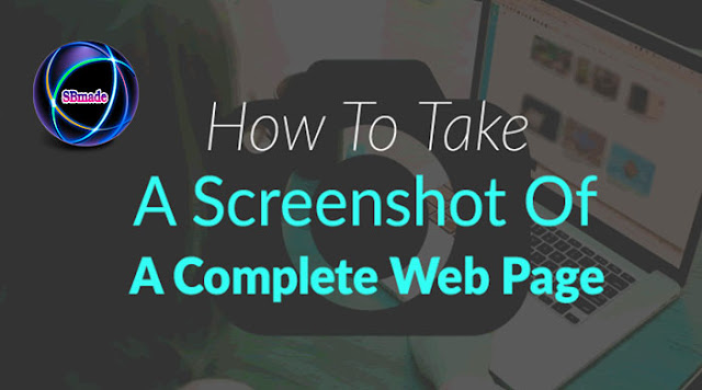 Take a Screenshot in a complete web page