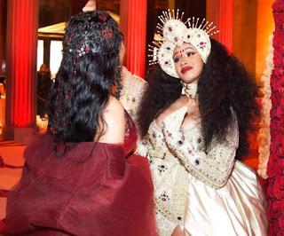 Nicki Minaj & Cardi B Spotted Together at 2018 Met Gala