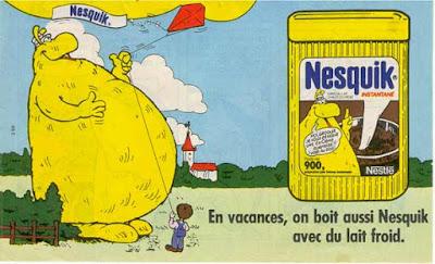 Groquik, la mascotte Nesquik francese