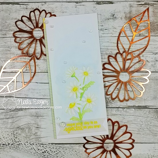 Daisy Card by Naki Rager | Dainty Daisies Stamp Set by Newton's Nook Designs #newtonsnook #handmade