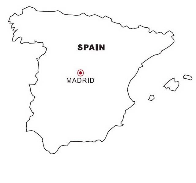 Mapa De España Colorear.Mapa De Espana Para Colorear Dibujo Views