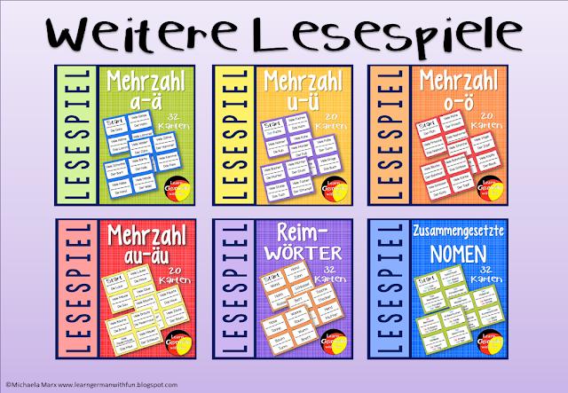 Verschiedene Lesespiele für Grundschule und DaF-Unterricht