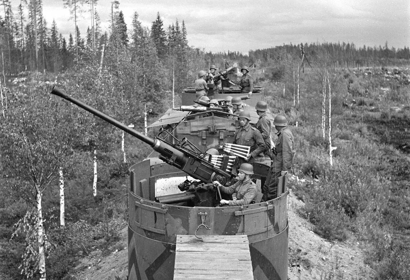A Finnish armored train.