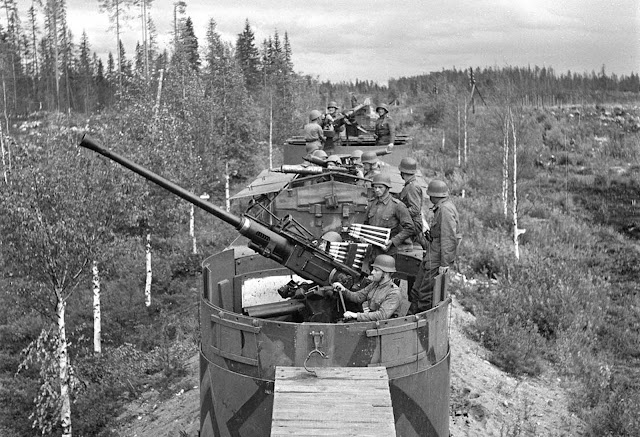 A Finnish armored train.