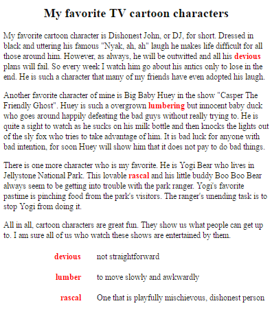 Essay On My Favorite Cartoon Character | Paragraph about My Favorite Cartoon Show