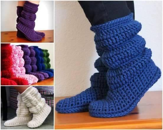 91f7ca5dd احذية لنساء من الكروشية للكبار تستخدم داخل البيت crochet