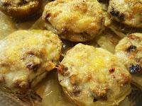 patatas rellenas de jamón y setas