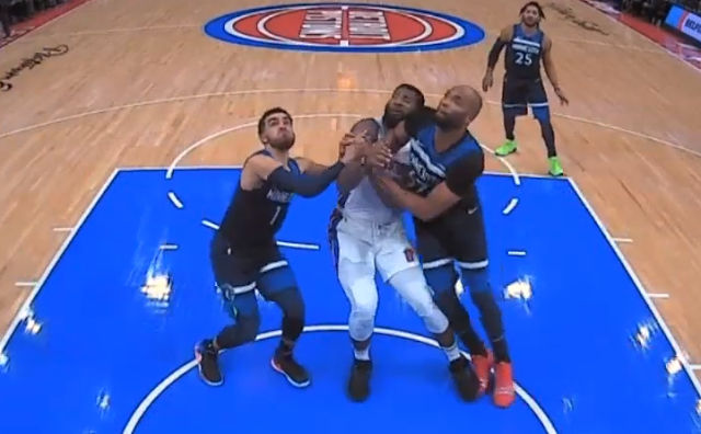 Taj Gibson ejected for elbowing Andre Drummond in the head