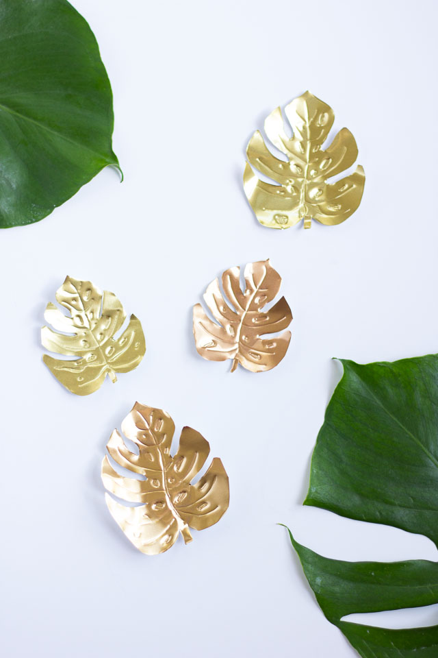 Metallic tropical leaves