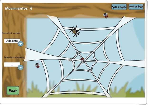 """""""La tela de araña"""" (Juego de Giros y Ángulos)"""