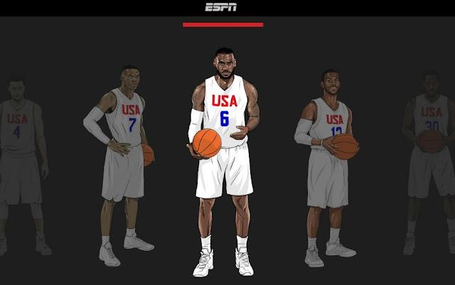 Le site ESPN permet aux internautes de créer leur Team USA