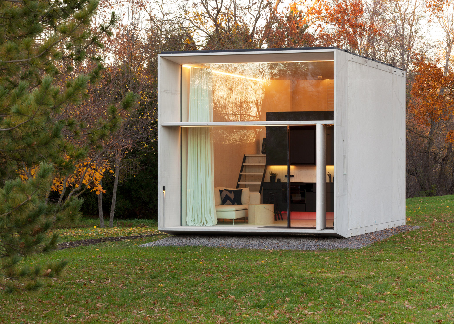 Shedworking koda moveable pop up concrete garden offices for The garden office