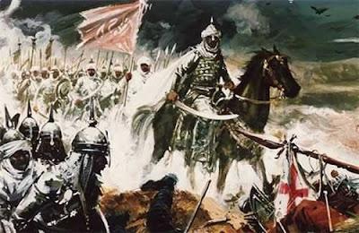 El implacable Uqba ibn Nafi, al frente de sus huestes