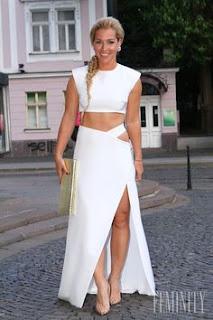 Dominika Cibulkova posses for a photo