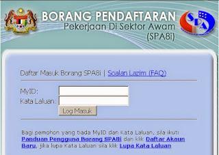 Borang SPA8i Online