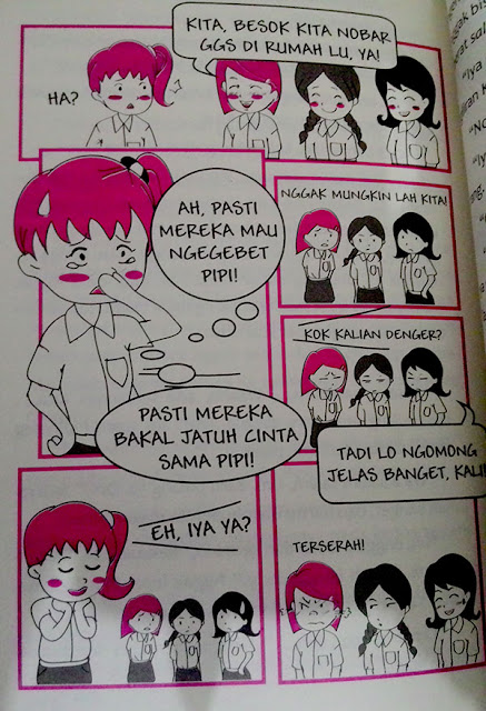 Cuplikan Komik Strip Keluarga Salah Gaul by Vivie Hardika.