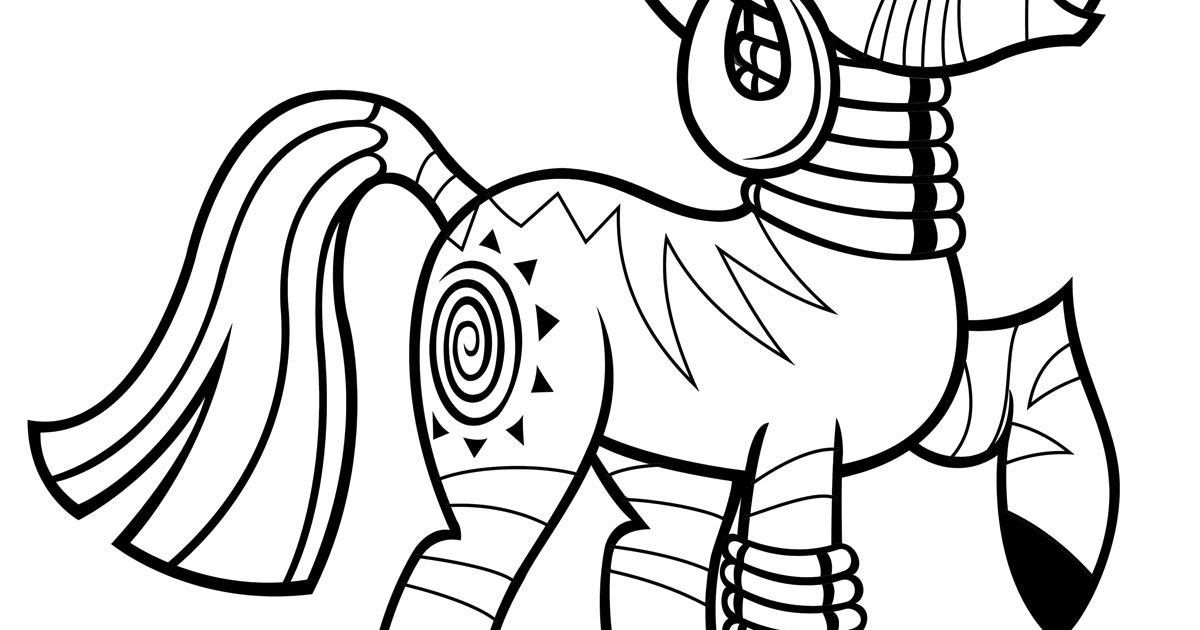 Zecora Coloring Pages Team Colors