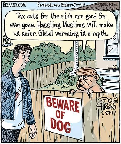 Beware of the Dog - Bizarro comic