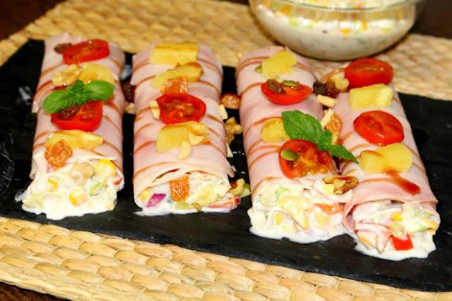 Canelones de jamon cocido