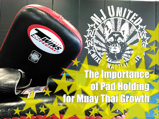 Muay Thai Training NJ United MMA Danny Millet Pad Holding is Important and valuable for your muay thai growth