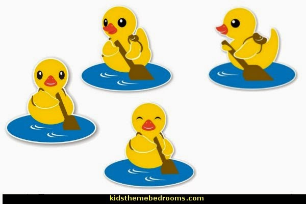 rubber duck theme bedrooms - rubber duck decor - yellow duck theme decorating ideas - rubber duck bedding - duck bedding - ducky bedding - rubber duck wall decal stickers