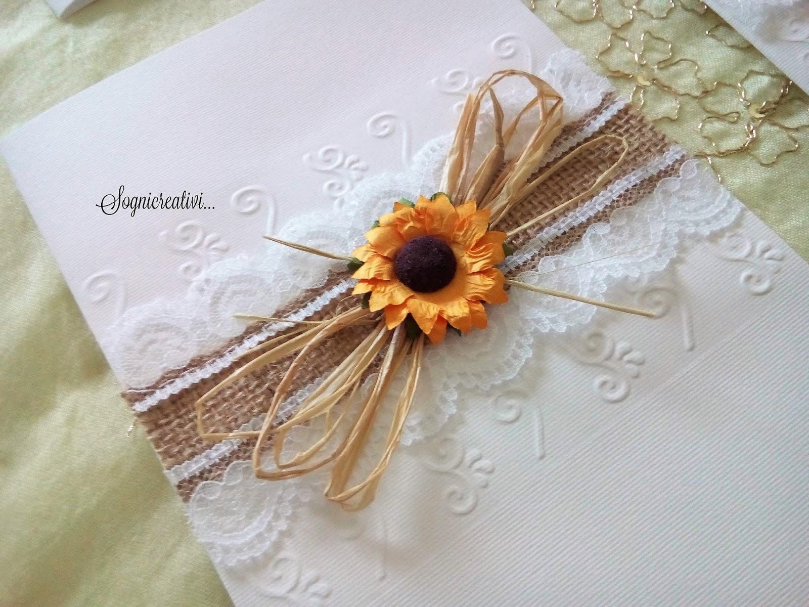 Libretto Matrimonio Girasoli : Partecipazioni sognicreativi wedding and events copertine
