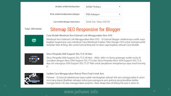 Cara Membuat Sitemap SEO Responsive di Blog Ala Kompi Ajaib