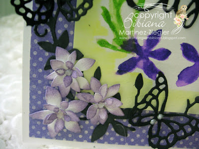 dies as stencils color with watercolors detail purple flowers