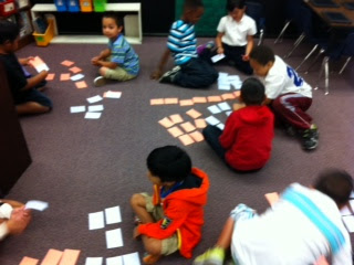 Kids in classroom playing learning games