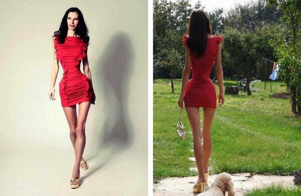 "of ""human hourglass"" iona sapangenberg, model with 20-inch ..."
