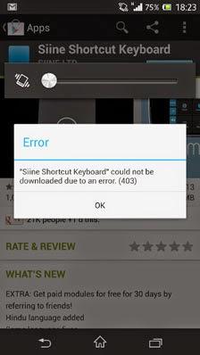 Cara Atasi Error 403 dan Error 923 di Android
